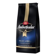 "Кофе в зернах AMBASSADOR ""Blue label"", натуральный, 1000 г, вакуумная упаковка"