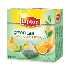 "Чай LIPTON (Липтон) ""Green Mandarin Orange"", зеленый, 20 пирамидок по 2 г"