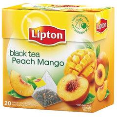 """Чай LIPTON (Липтон) """"Peach Mango"""", черный с персиком и манго, 20 пирамидок по 2 г"""