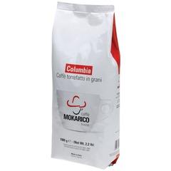 """Кофе в зернах MOKARICO """"Columbia"""", натуральный, арабика 80% робуста 20%, 1000 г, вакуумная упаковка"""