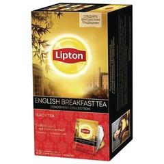 """Чай LIPTON (Липтон) Discovery""""English Breakfast"""", черный, 25 пакетиков по 2 г"""