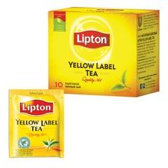 """Чай LIPTON (Липтон) """"Yellow Label"""", черный, 10 пакетиков с ярлычками по 2 г"""