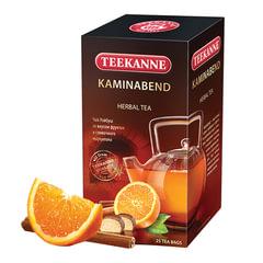 "Чай TEEKANNE (Тикане) ""Kaminabend"", травяной, ройбуш, 25 пакетиков в конверте, Германия"