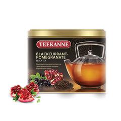 """Чай TEEKANNE (Тикане) """"Blackcurrant-Pomegranate"""", черный, смородина, гранат, листовой, 150 г, Германия"""