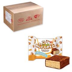 """Конфеты шоколадные РОТ ФРОНТ """"Коровка"""", вафельные с молочной начинкой, весовые, 3 кг, гофрокороб"""