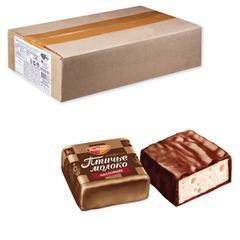 """Конфеты шоколадные РОТ ФРОНТ """"Птичье молоко"""", суфле, сливочно-ванильные, весовые, 2,3 кг, гофрокороб"""