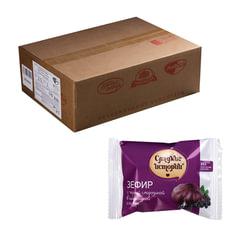 Зефир СЛАДКИЕ ИСТОРИИ, с черной смородиной в шоколадной глазури, весовой, 2 кг, гофрокороб