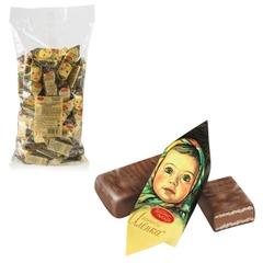"""Конфеты шоколадные КРАСНЫЙ ОКТЯБРЬ """"Аленка"""", вафельные, молочно-ореховые, 1000 г, пакет"""