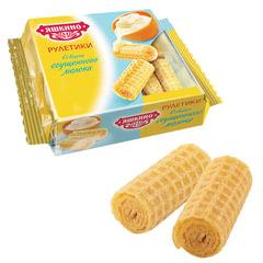 Вафли-рулетики ЯШКИНО со вкусом сгущенного молока, 160 г