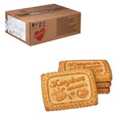 """Печенье ЛЮБЯТОВО """"Топленое молоко"""", сахарное, весовое, 4,7 кг, гофрокороб"""