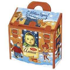 """Подарок новогодний АЛЕНКА """"Веселая девчонка"""", 500 г, набор ассорти, картонная коробка"""