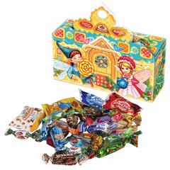 """Подарок новогодний """"Новогодний сувенир"""", 300 г, набор конфет и пр., ассорти, картонная коробка"""