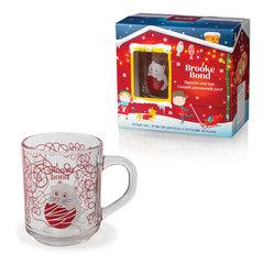 Чай BROOKE BOND (Брук Бонд), шоколад/апельсин, 50 г + кружка, набор, подарочная упаковка