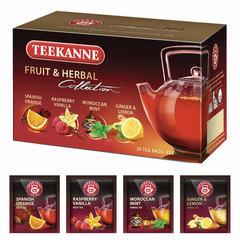 """Чай TEEKANNE (Тикане) """"Fruit tea collection"""", фруктовый, ассорти 4 вкуса, 20 пакетиков, Германия"""