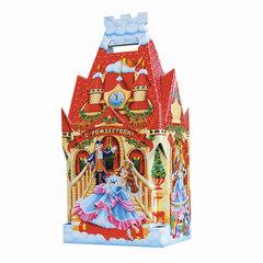 """Подарок новогодний """"Детский замок"""", 1300 г, набор конфет и пр., ассорти, картонная коробка"""