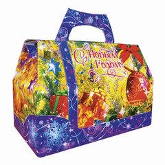 """Подарок новогодний """"Сумочка Деда Мороза"""", 2000 г, набор конфет и пр., ассорти, картонная коробка"""