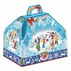 """Подарок новогодний """"Госпожа - Метелица"""", 800 г, набор конфет и пр., ассорти, картонная коробка"""