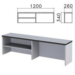 "Надстройка для стола письменного ""Монолит"", 1200х260х340 мм, 1 полка, цвет серый"