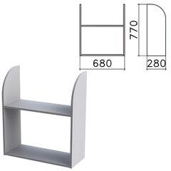 """Полка навесная настенная """"Монолит"""", 680х280х770 мм, цвет серый, ПМ40.11"""