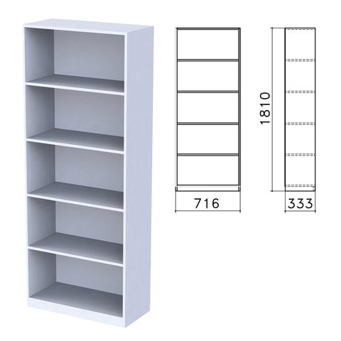 "Шкаф (стеллаж) ""Бюджет"", 716х333х1810 мм, 4 полки, серый"