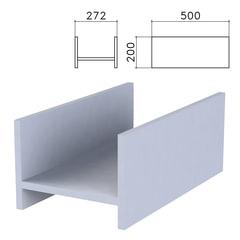 """Подставка под системный блок """"Бюджет"""", 272х500х200 мм, серая"""
