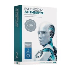"Антивирус ESET NOD32 ""Platinum Edition"", 3 ПК, 2 года, бокс"