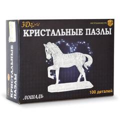 """Игрушка развивающая 3D Crystal Puzzle """"Лошадь"""", XL, 100 элементов"""