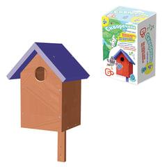 """Набор для детей деревянный """"Кормушка для птиц """"Скворечник"""", 33х18х17 см, цветной, """"Десятое королевство"""""""