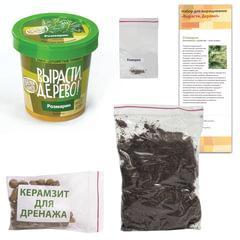 """Набор для выращивания растений ВЫРАСТИ ДЕРЕВО! """"Розмарин"""" (банка, грунт, семена)"""