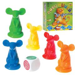 """Игра настольная детская """"Лови мышей"""", фишки, карточки, игровые кубики, ЗВЕЗДА"""