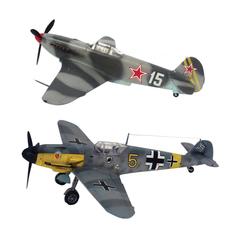"""Модели для сборки САМОЛЕТЫ """"Великие противостояния. BF-109 против Як-3"""", набор 2 шт., 1:72, ЗВЕЗДА, 5201"""
