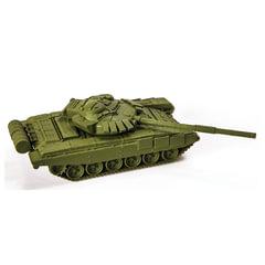 """Модель для сборки ТАНК """"Основной советский Т-72Б"""", масштаб 1:100, ЗВЕЗДА, 7400"""