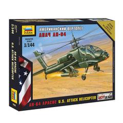 """Модель для склеивания ВЕРТОЛЕТ """"Ударный американский AH-64 """"Апач"""", масштаб 1:72, ЗВЕЗДА, 7408"""