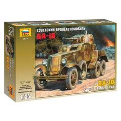"""Модель для склеивания АВТО """"Бронеавтомобиль советский БА-10"""", масштаб 1:35, ЗВЕЗДА, 3617"""