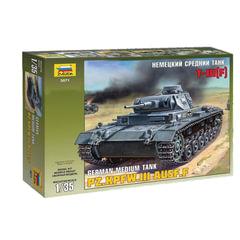 """Модель для склеивания ТАНК """"Средний немецкий T-III (F)"""", масштаб 1:35, ЗВЕЗДА, 3571"""