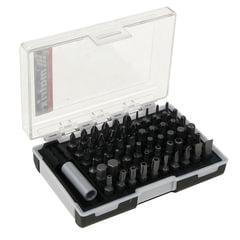 Набор бит, 61 предмет, MATRIX, магнитный адаптер, CrV, пластиковый бокс с клипсой подвесом