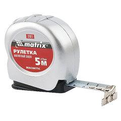 """Рулетка измерительная 5,0 м х 19 мм, MATRIX """"Magnetic"""", магнитный зацеп, пластиковый корпус"""