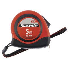 """Рулетка измерительная 5,0 м х 25 мм, MATRIX """"Status Autostop Magnet"""", магнитный зацеп, двухкомпонентный корпус"""
