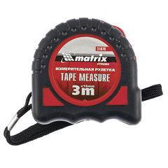 """Рулетка измерительная 3,0 м х 16 мм, MATRIX """"Strong"""", обрезиненный корпус"""