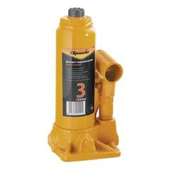 Домкрат гидравлический бутылочный, 3 т, SPARTA, высота подъема 180–340 мм, D штока-18 мм