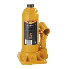 Домкрат гидравлический бутылочный, 5 т, SPARTA, высота подъема 195–380 мм, D штока-24 мм