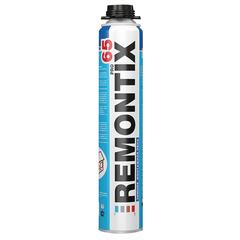 Пена монтажная REMONTIX, профессиональная (пистолетная), до 65 литров, баллон 850 мл