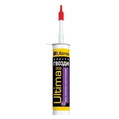 Жидкие гвозди ULTIMA 309, для тяжелых строительный конструкций, коричневый, картридж, 360 г