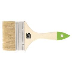 """Кисть плоская, 4"""" (100 мм), натуральная щетина, деревянная ручка, СИБРТЕХ, масляные краски, лаки"""