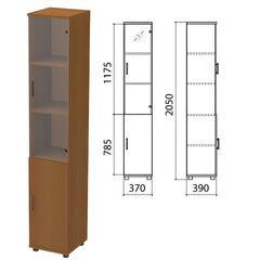 "Шкаф закрытый со стеклом ""Монолит"", 370х390х2050 мм, цвет орех гварнери (КОМПЛЕКТ)"