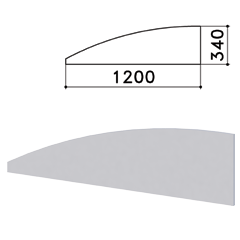 "Экран-перегородка ""Монолит"", 1200х16х340 мм, цвет серый (КОМПЛЕКТ)"