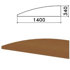 "Экран - перегородка ""Монолит"", 1400х16х340 мм, цвет орех гварнери (КОМПЛЕКТ)"