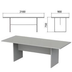 """Стол для переговоров """"Этюд"""", 2100х900х750 мм, цвет серый (КОМПЛЕКТ)"""