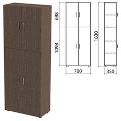 """Шкаф закрытый """"Канц"""", 700х350х1830 мм, цвет венге (КОМПЛЕКТ)"""