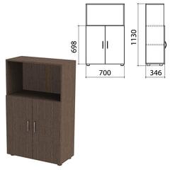 "Шкаф полузакрытый ""Канц"", 700х350х1130 мм, цвет венге (КОМПЛЕКТ)"